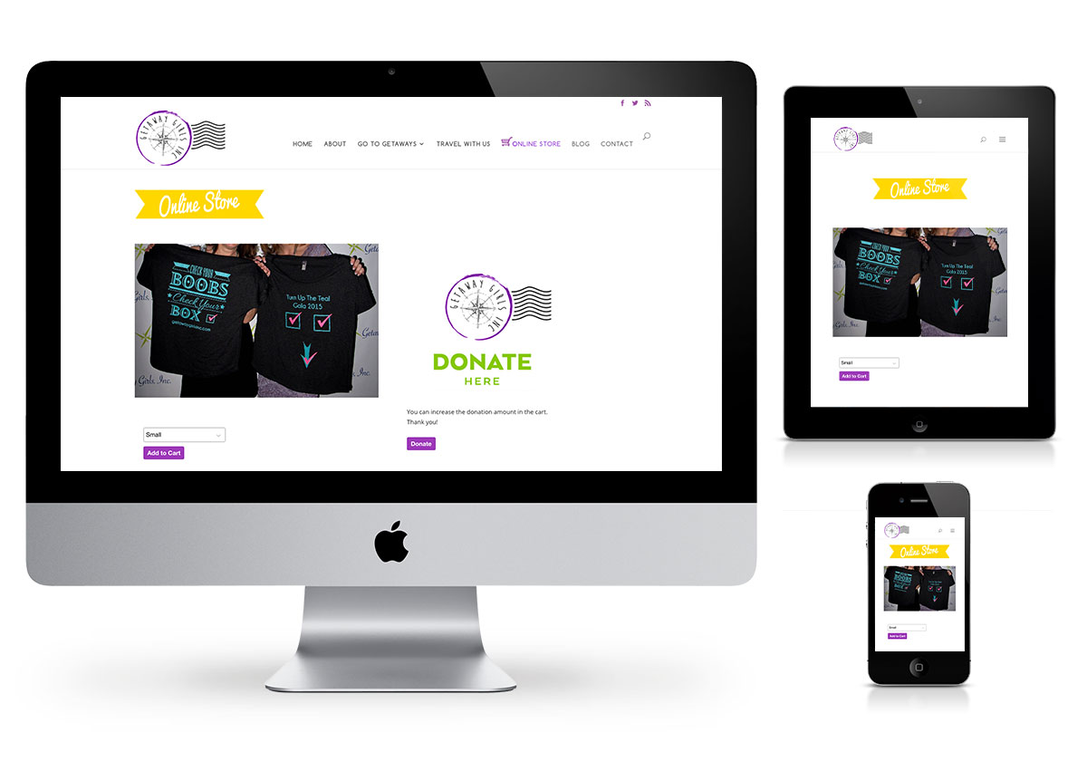 wordpress webdesign for Getaway Girls inc. by Fab Web Philly