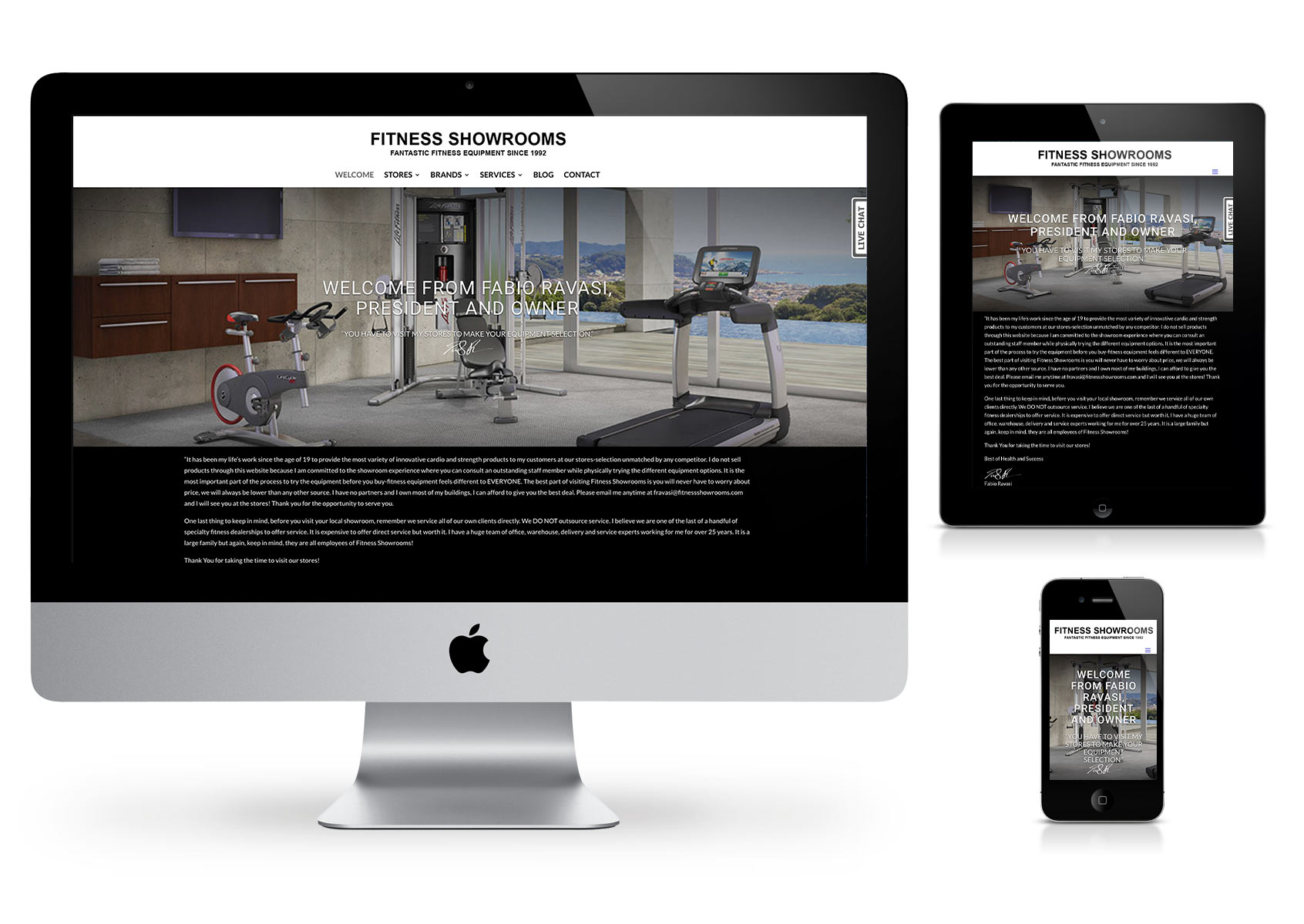 Fab Web Philly - Fitness Showrooms