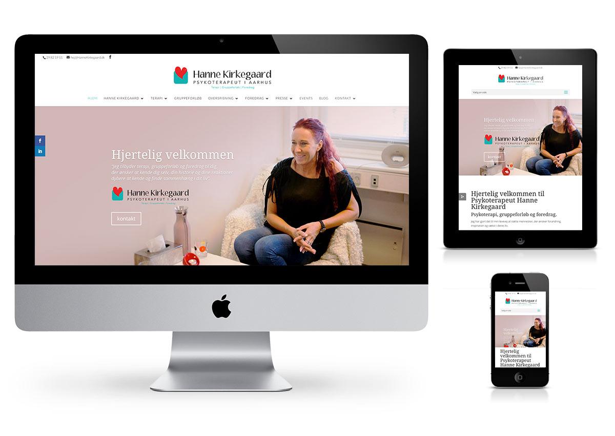 Hanne Kirkegaard Wordpress website by Fab Web