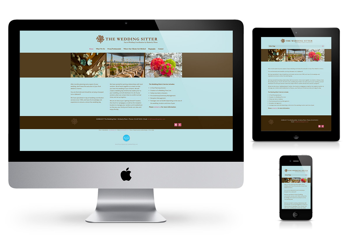 The Wedding Sitter - Wordpress by Fab Web Philly
